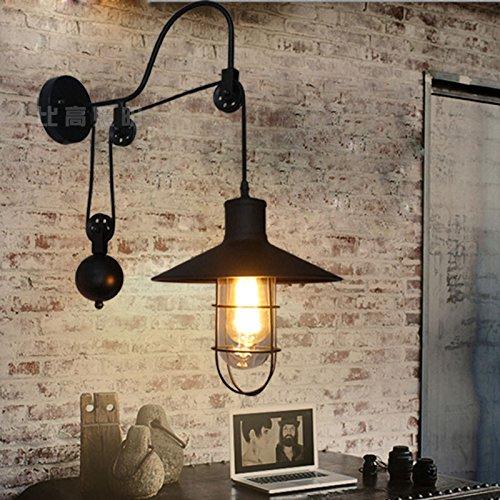 YU-K eenvoudige vintage woonkamer eetkamer balkon wandlamp antieke dual usewandlamp plafondlamp kan de uittrekbare telescopische antenne kooi