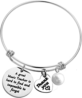 Music Teacher Gift Bracelet Appreciation Gift Retirement Gift for Music Teacher a Great Music Teacher is Hard to Find Brac...