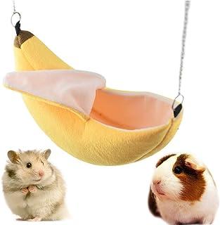 Gifty ゆらゆらバナナブランコ ハムスター モモンガ ハンモック 布製 ベッド あったか ハウス 寒さ対策 冬用