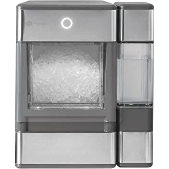 GE Major Appliances OPAL01GEPKT GE Profile Opal   Countertop Nugget Ice Maker, Stainless Steel Wrap with Gray Accents & LED Lighting