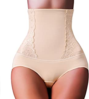 TOPMELON Women High Waisted Compression Panty Tummy Shaper Hourglass Power Lace Panties Slimmer