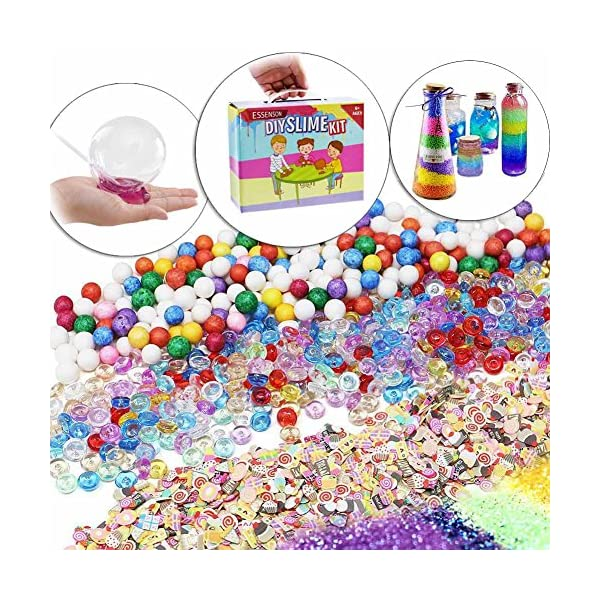 ESSENSON Slime Kit - Slime Supplies Slime Making Kit for Girls Boys, Kids Art Craft, Crystal Clear Slime, Glitter, Slime… 15