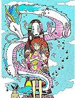 YXBKWH アート5DDiyダイヤモンド手作りの冒険絵画フルラウンドドリルアニメ映画刺繡クロスステッチ画像モザイクギフトラウンド