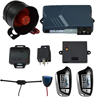 BANVIE 2-Way LCD Car Alarm System with Remote Start