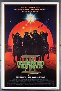 Teenage Mutant Ninja Turtles 3 (1993) Original U.S. One-Sheet Movie Poster 27x41 Rolled Fine Plus Condition Film directed by STUART GILLARD