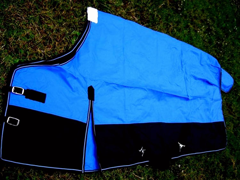 CHALLENGER 640D Turnout Water Resistant Winter Horse Sheet Light Blanket SeablueeBlack 928P