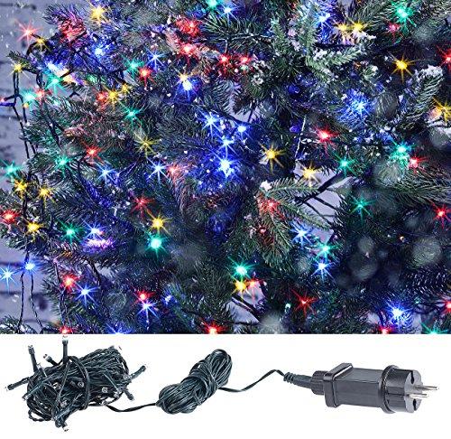 Lunartec LED Kette: LED-Lichterkette mit 40 LEDs für innen & außen, IP44, 4-farbig, 4 m (LED-Lichterkette Außenbereich)