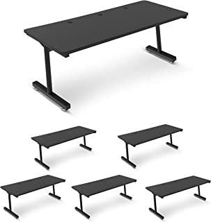 Sponsored Ad - 6-Pack Computer Table   Made in USA   Classroom Table   Workstation   2-Person   Double-Wide Steel Frame   ...