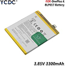 YCDC Original BLP657 Battery for OnePlus Six 1+ One Plus 6 3300mAh High Capacity,3.85V 3300mAh 1+ Phone Battery BLP657 for OnePlus 6 Six High Performance