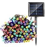Qedertek Solar String Lights 72ft 200 LED Fairy Christmas Lights, 8 Modes Ambiance Lighting for Outdoor, Patio, Lawn, Landscape, Garden, Home, Wedding (Multi-Color)