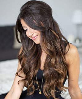 [Save 5%]Sunny Black Balayage Hair Extensions Clip in 16 inch Human Hair Off Black Mix Medium Brown Clip in Balayage Extensions Brazilian Hair Clip in 120G