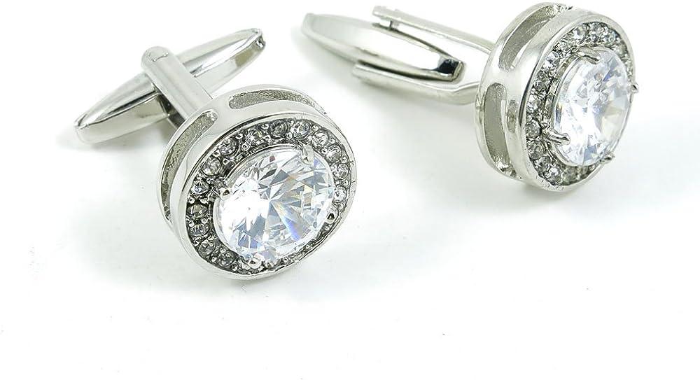 Cufflinks Cuff Links Classic Fashion Jewelry Party Gift Wedding 761420 Shinning Round Zircon
