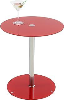 Amazon.es: mesa auxiliar cristal roja