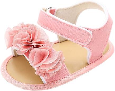Ni/ños ni/ños y ni/ñas de Malla Transpirable Velcro beb/é Fresco Zapatos Zapatos de Bebe ni/ña ni/ño Recien Nacido Primeros Pasos Vestir y Verano con Suela