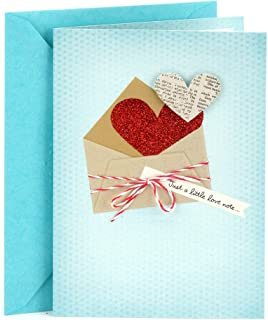 Hallmark Everyday Love Card, Romantic Birthday Card, Anniversary Card, Sweetest Day Card (Love Note)