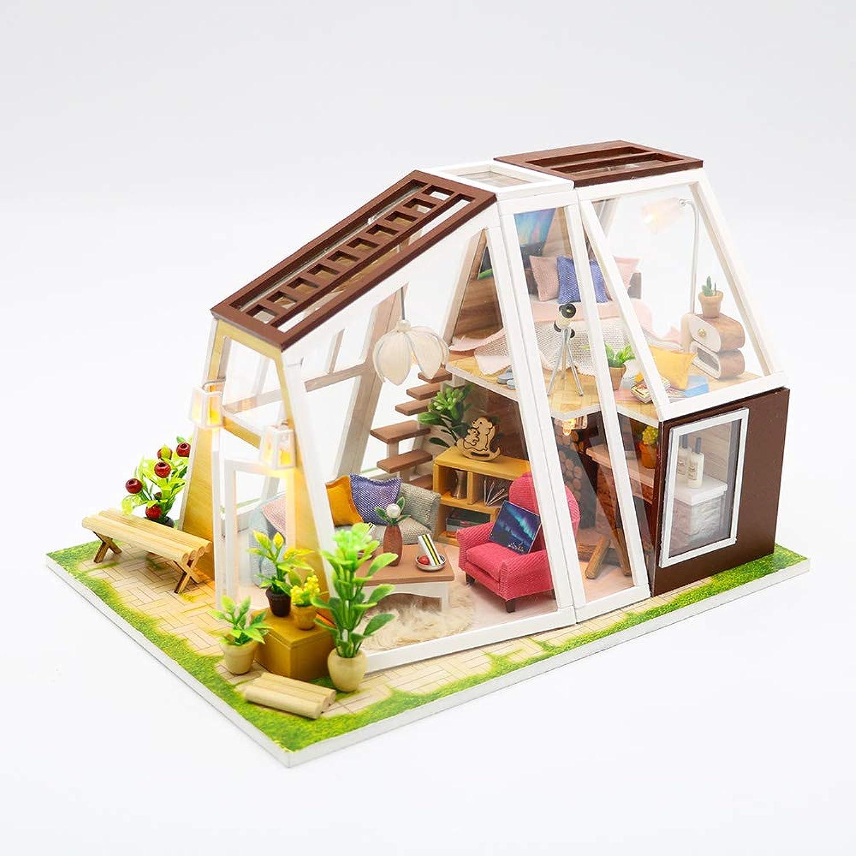 Venta barata ZL ZL ZL Cabina de Bricolaje Creativo Rompecabezas Modelo de construcción Luminosa casa de muñecas con Muebles Cubierta de Polvo música Deportes niña romántico día de San valentín Regalo de cumpleaños  descuento de ventas