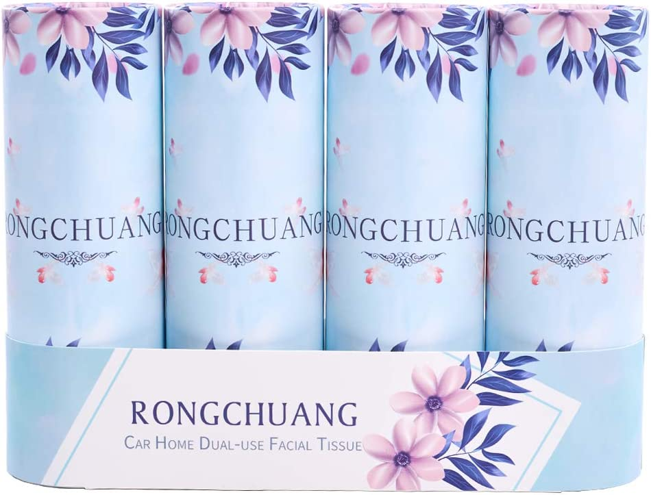 Car Tissues Facial Tissue latest gift RONGCHUANG 4 Packs 150 Count