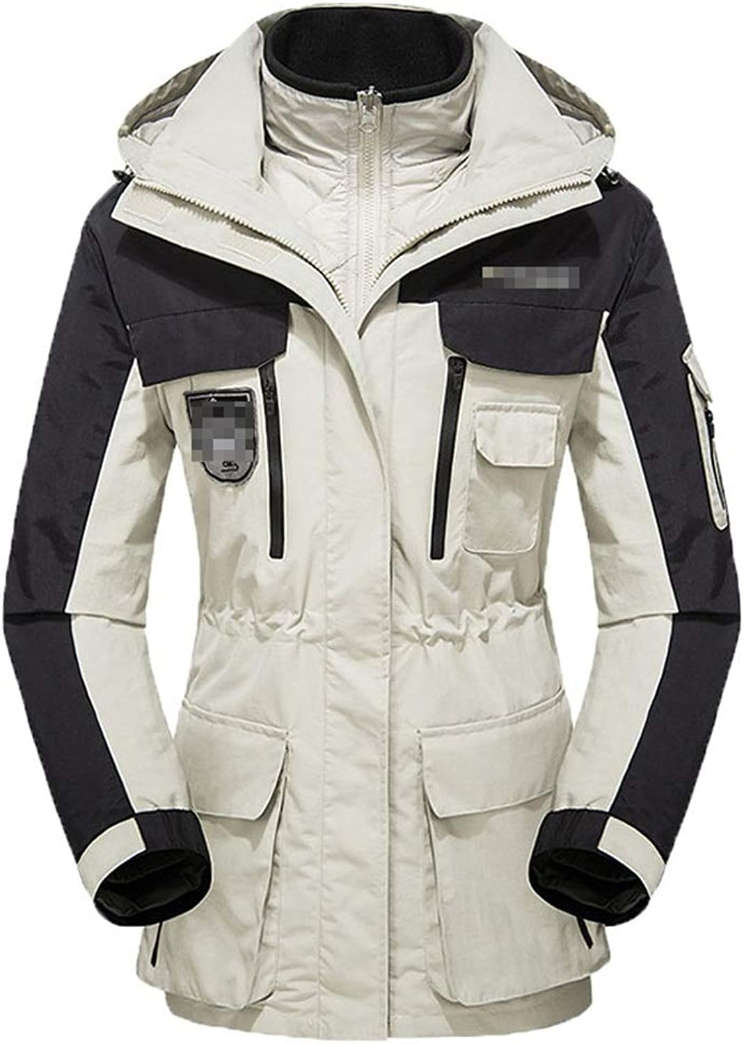 Outdoor Long Jacket Female 3in1 2Piece, Snowboard Coat,Comfortable and Warm