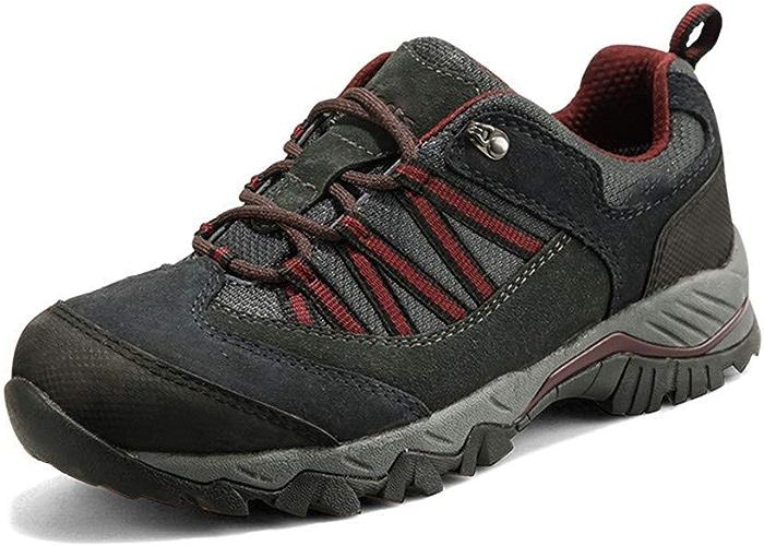 DSX Chaussures de Randonnée Hommes Chaussures de Randonnée Chaussures de Plein Air Imperméables Baskets de Sport de Trekking Antidérapantes, gris, 10UK