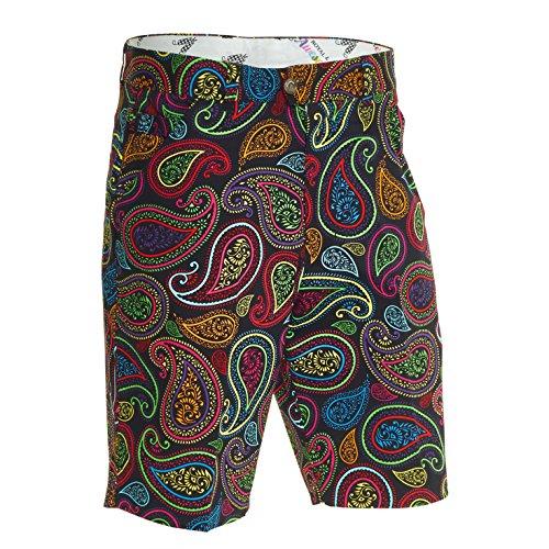 """Royal und Awesome Herren Shorts ROYAL und Awesome Herren Golf Shorts - Crazy Paisley, Crazy Paisley, 34"""" Waist - 86 cm, RSCP3432"""