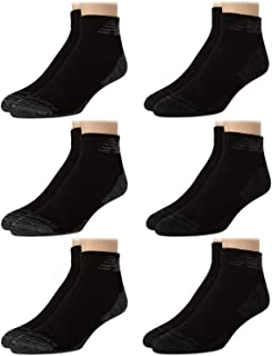 New Balance Men's Socks - Big and Tall Performance Cushioned Above Ankle Athletic Quarter Mini-Crew Socks (6 Pack), Size L...