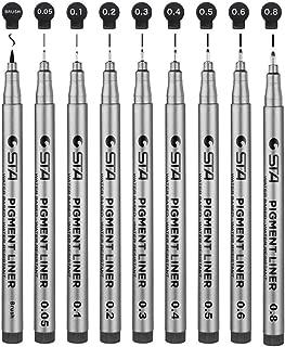 Bolígrafos Fineliner Negros,9 Bolígrafos De Tinta Fineliner Plumas