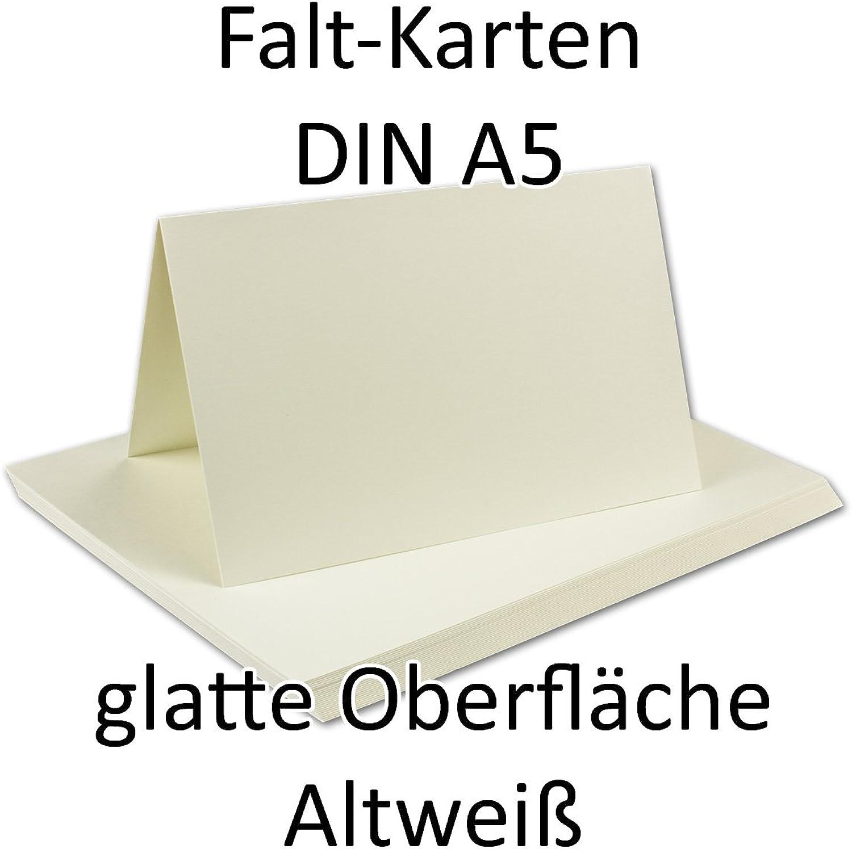 50 Stück    Doppelkarte (hochdoppelt) DIN A5, Opal-Weiß, Opal-Weiß, Opal-Weiß, 148 x 210 mm (geschlossen), 260 g m²    Serie O.P.A.L B00ULQSLBS   | Attraktives Aussehen  8601f5