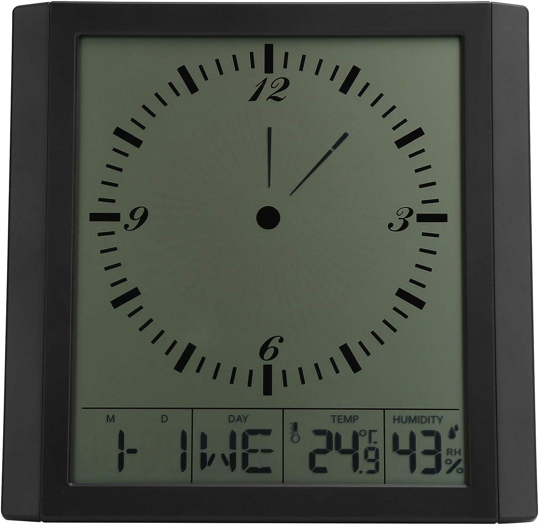 Wall Clock Lightweight San Jose Mall Humidity Industry No. 1 Multifunction Temperature