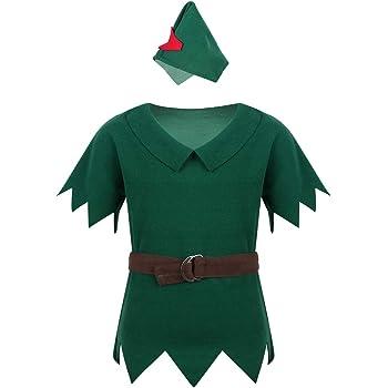 iiniim Disfraz Infantil de Santo Equipo Duende Elfo Robin Niño ...