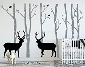 BB290 CERF DEER FOREST Animal Cool Smashed Applique Murale 3D Art Stickers Vinyl Chambre