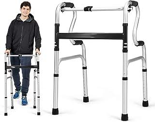 Goplus Folding Walker, 400LBS FDA Certification Toilet Armrest, Height Adjustable Adult Walker, Medical Walker for Seniors...