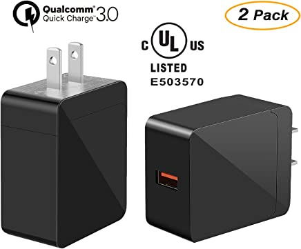 USB Wall Charger Quick Charge 3.0, ONTWIE Qualcomm Certified 18W QC 3.0 Charger Adapter, UL Certified Travel Adapte Compatible iPhone XS/X/8/7/6/Plus/iPad, Samsung, LG, Nexus, HTC and More