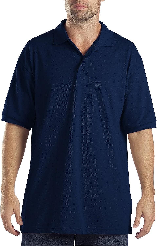 Dickies Men's Big Short-Sleeve Pique Polo Shirt