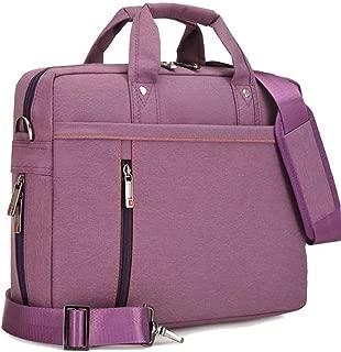 Laptop Shoulder Bag Nylon Shakeproof Messenger Sleeve Cover Briefcase for 17 Inch Laptop/Notebook/Ultrabook/Macbook Pro Retina Case (Purple)
