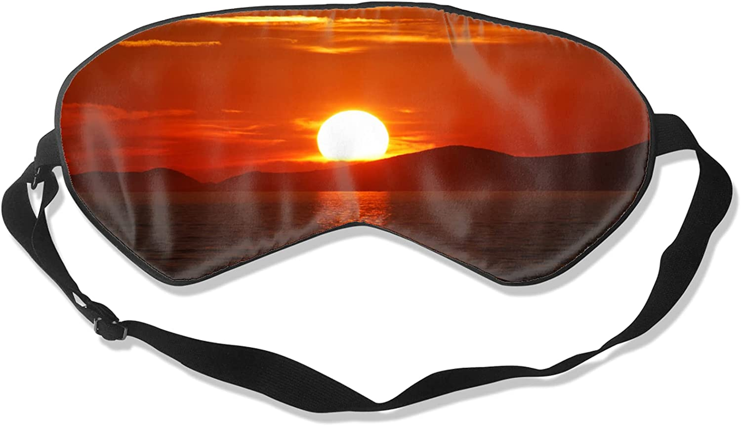 Orange Sun and Moon Blindfold Non-Allergenic Skin-Friendly Max 79% OFF Breat Ranking TOP18