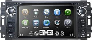 hizpo Car GPS Navigator Reproductor de DVD estéreo para Jeep Wrangler Chevrolet Dodge Chrysler Unidad Principal DIN Simple 6.2 Pulgadas Pantalla táctil Radio Indash 3G Receptor Bluetooth
