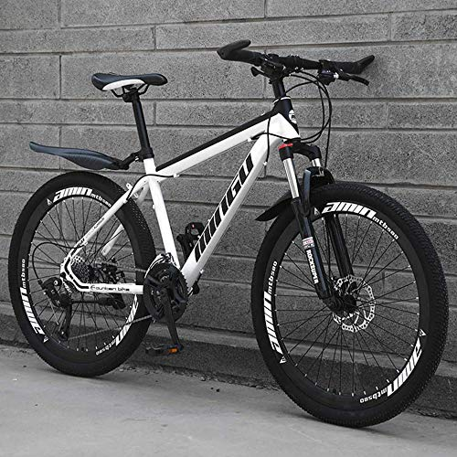 TRGCJGH Mountain Bike 26 Inches, Double Disc Brake Frame Bicycle Hardtail...