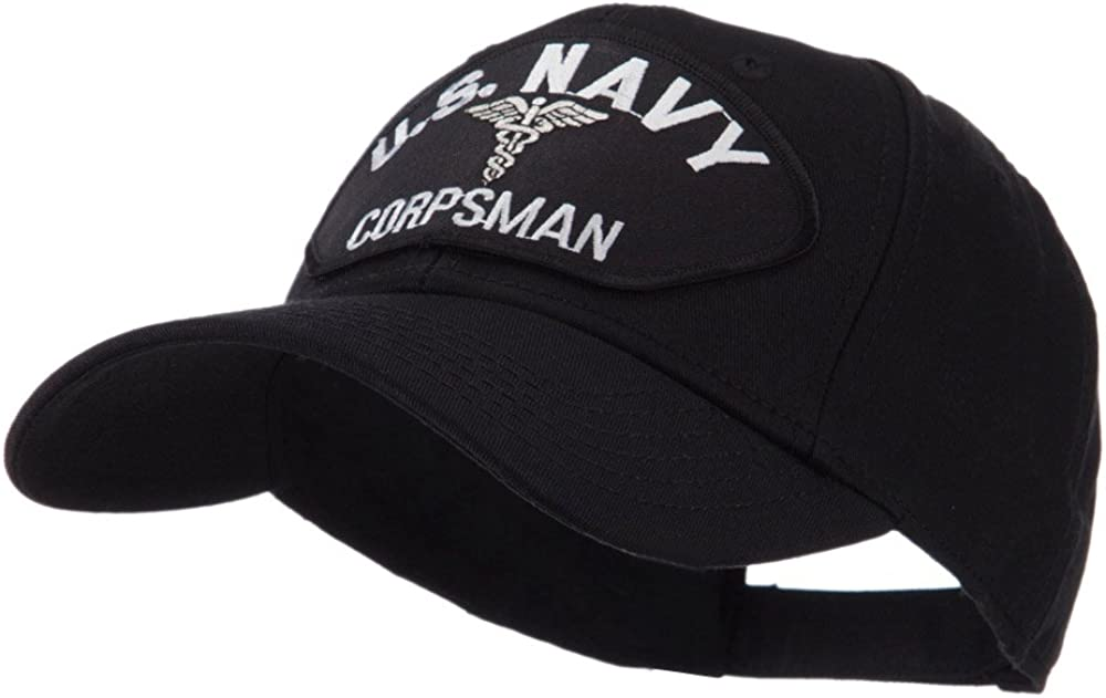 e4Hats.com US Navy overseas Colorado Springs Mall Fan Large Cap Patch Shape
