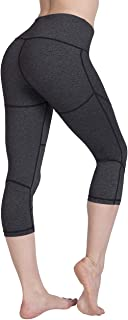 UURUN High Waist Yoga Pants Workout Running Leggings with Pockets - Non-See-Through Fabric