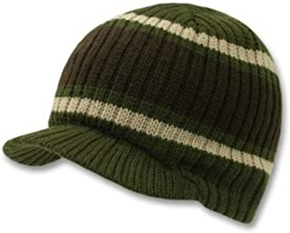 striped visor beanie