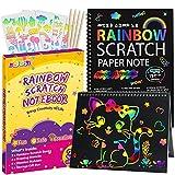 pigipigi Rainbow Scratch Paper for Kids - 2 Pack Scratch Off Notebooks Arts...