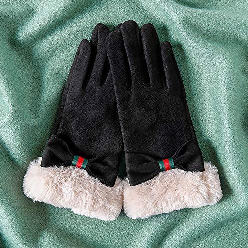 Ybzbx Praktische Handschuhe, Winter Niedlich Touchscreen Cartoon Student Wildlederhandschuhe, Warm Und Samtig Verdickt Kalt Reithandschuhe, EIN Stück
