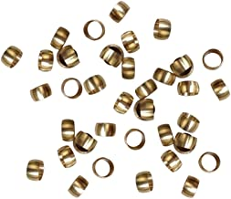 Metalwork Metric Nickel Plated Brass Compression Sleeve Ferrules (10mm OD, Pack of 20)