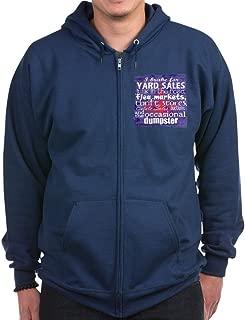 Junker Shirt Blueredwhite - Zip Hoodie, Classic Hooded Sweatshirt with Metal Zipper