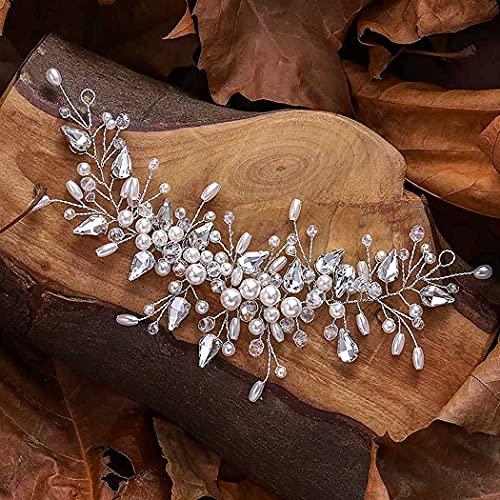 Fashband Diadema de cristal para novia, para novia, para mujeres y niñas