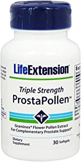 Life Extension Triple Strength ProstaPollen, 30 Softgels