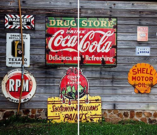DAMU  Ceranfeldabdeckung 2 Teilig 2x30x52 cm Herdabdeckplatten Vintage Elektroherd Induktion Herdschutz Spritzschutz Glasplatte Schneidebrett Rot Vintage