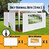 BenefitUSA Sidewalls 10'X6.4' Size for Tent Outdoor Pop Up Canopy Gazebo Marquee with Zipper&Window