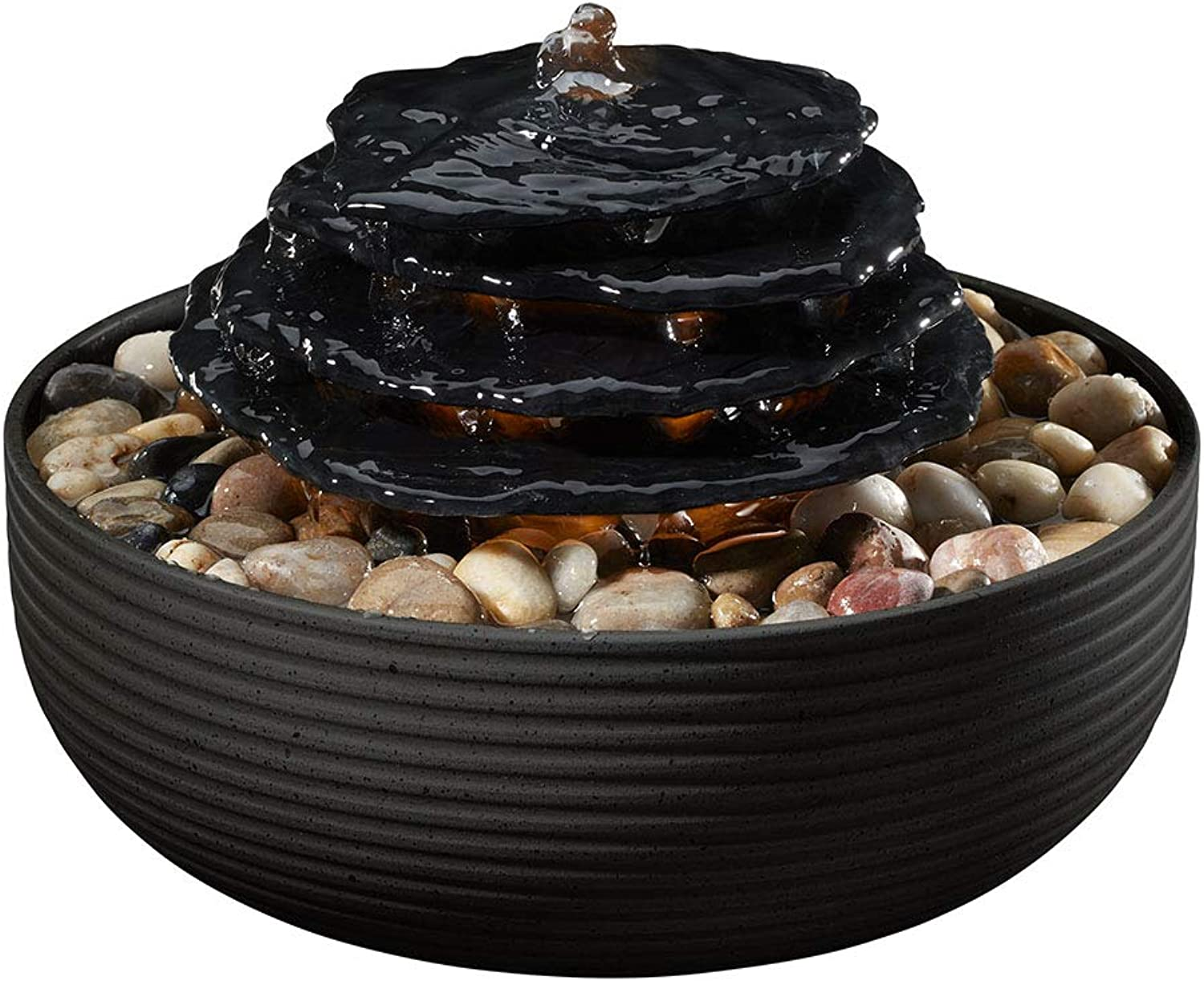 Homedics Purity Relaxation Tabletop Fountain Black