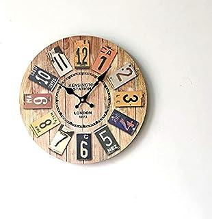 Retro Ancient Real Wood Clock Europe Style Home Decoration Digital Wall Clocks